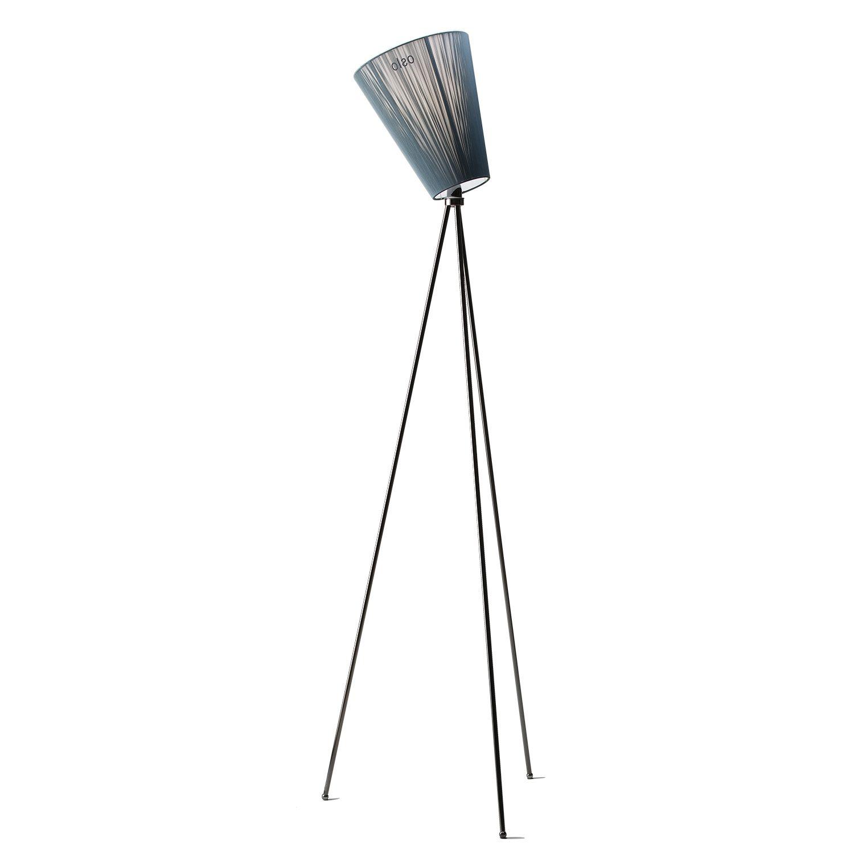 Oslo Wood vloerlamp Northern metallic zwart - groen