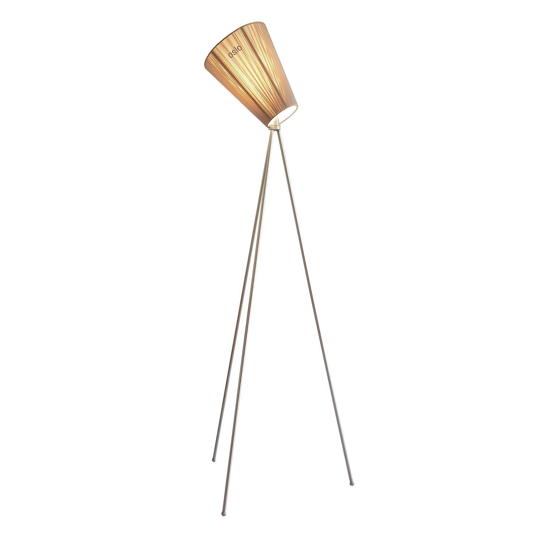 Oslo Wood vloerlamp Northern staal - beige