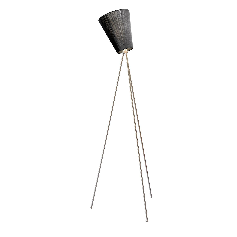 Oslo Wood vloerlamp Northern staal - zwart