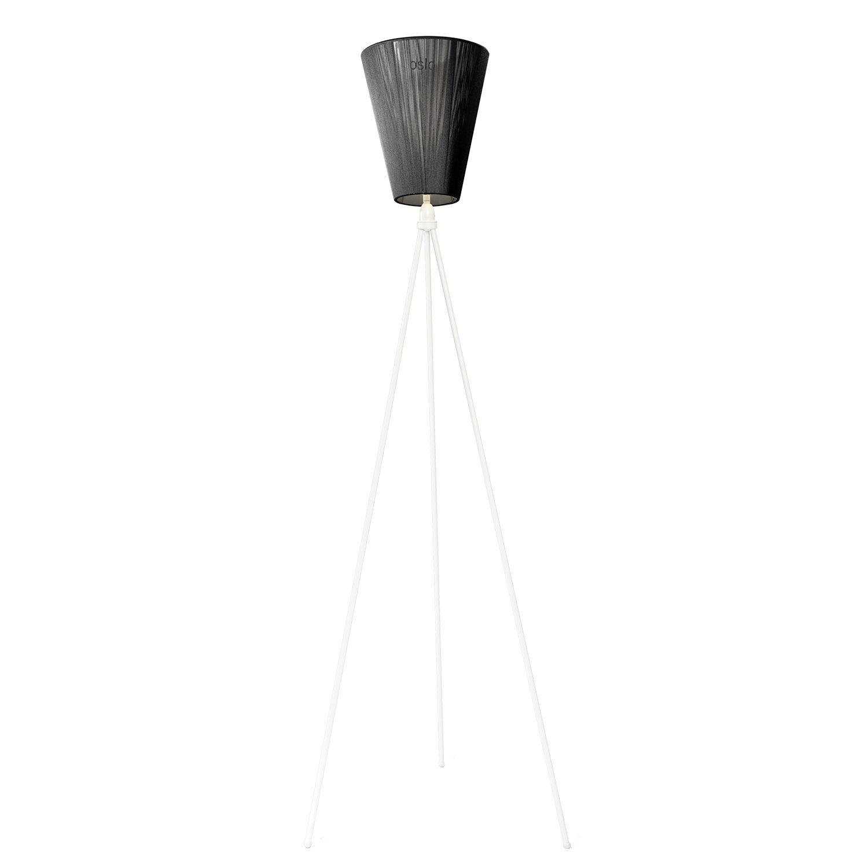 Oslo Wood vloerlamp Northern wit - zwart