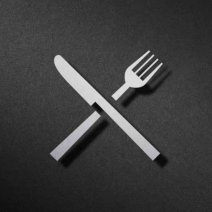Mes en vork pictogram Phos Design