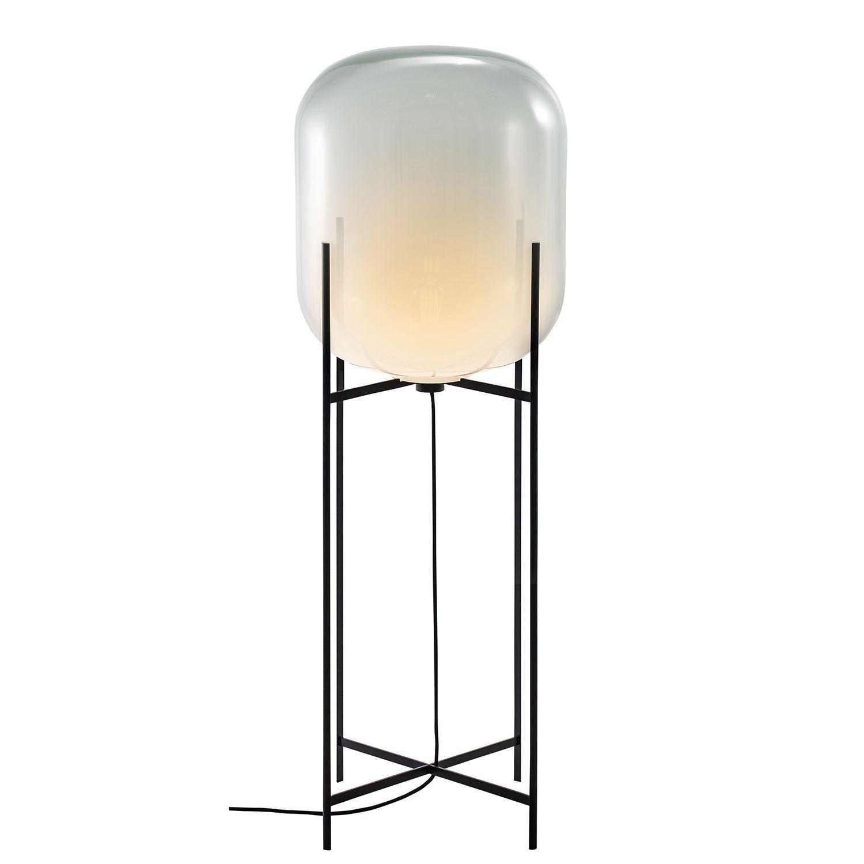 Oda vloerlamp Pulpo 140 opaal/zwart