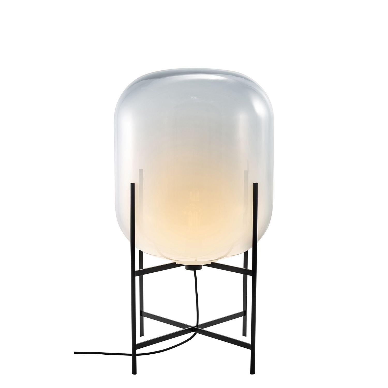 Oda vloerlamp Pulpo 85 opaal/zwart