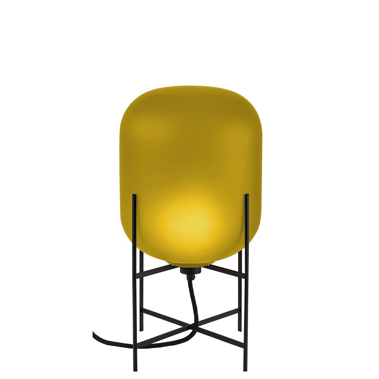 Oda tafellamp Pulpo 45 mat amber/zwart