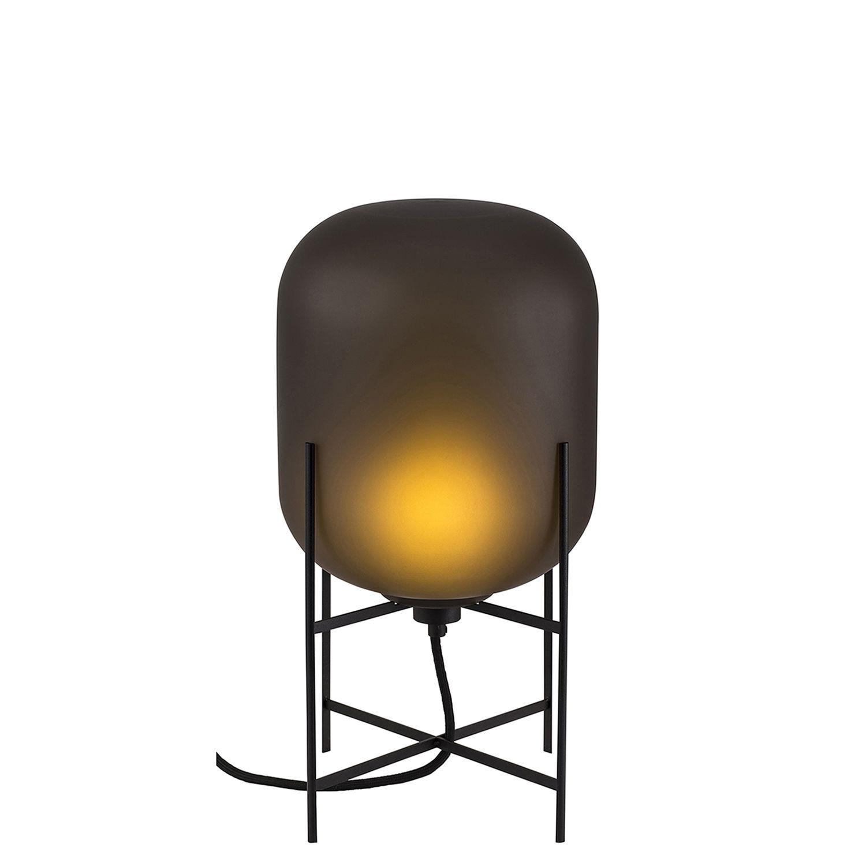 Oda tafellamp Pulpo 45 mat grijs/zwart