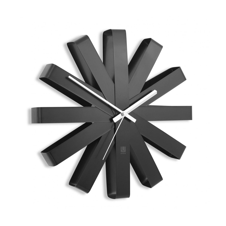 Ribbon klok Umbra zwart