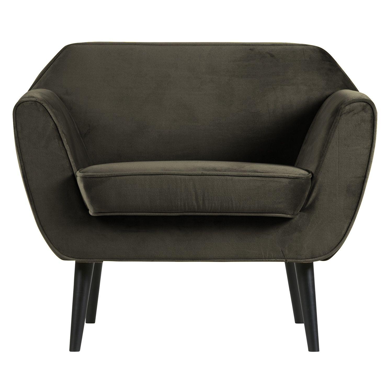Rocco fauteuil Woood warm groen