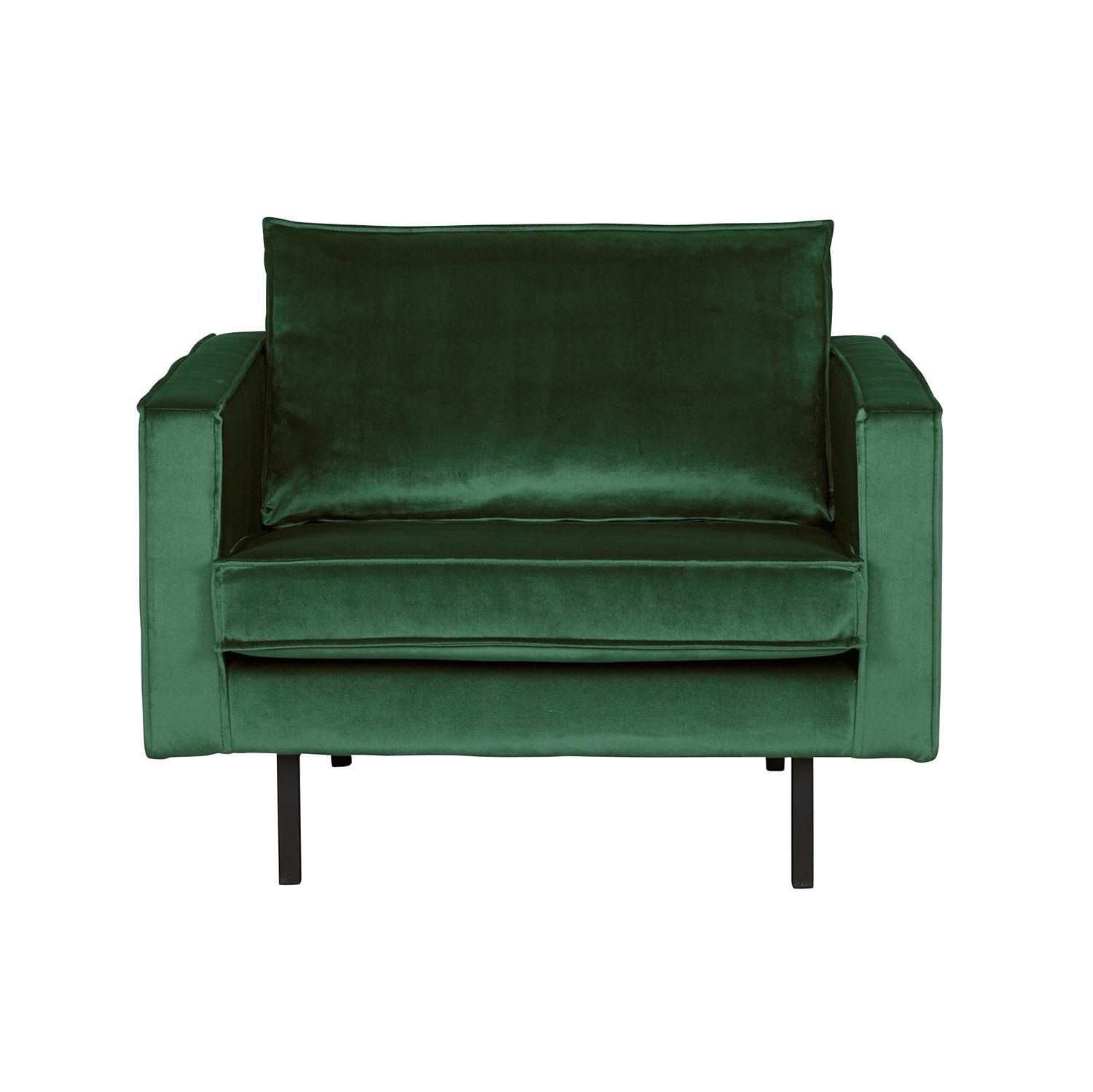 Rodeo fauteuil BePureHome velvet forest green