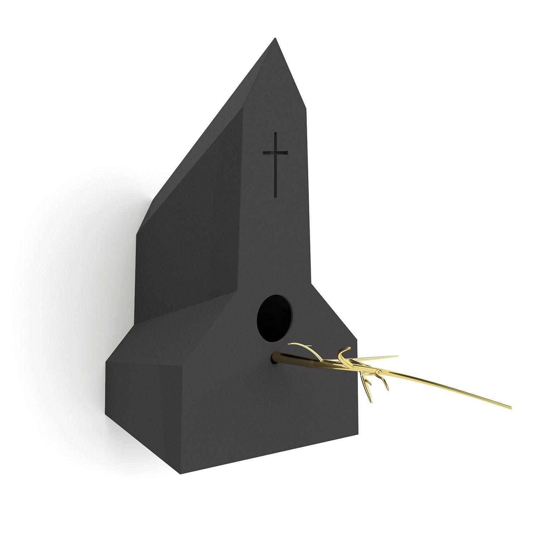 Holy Homes vogelhuisje Frederik Roijé kerk donkergrijs