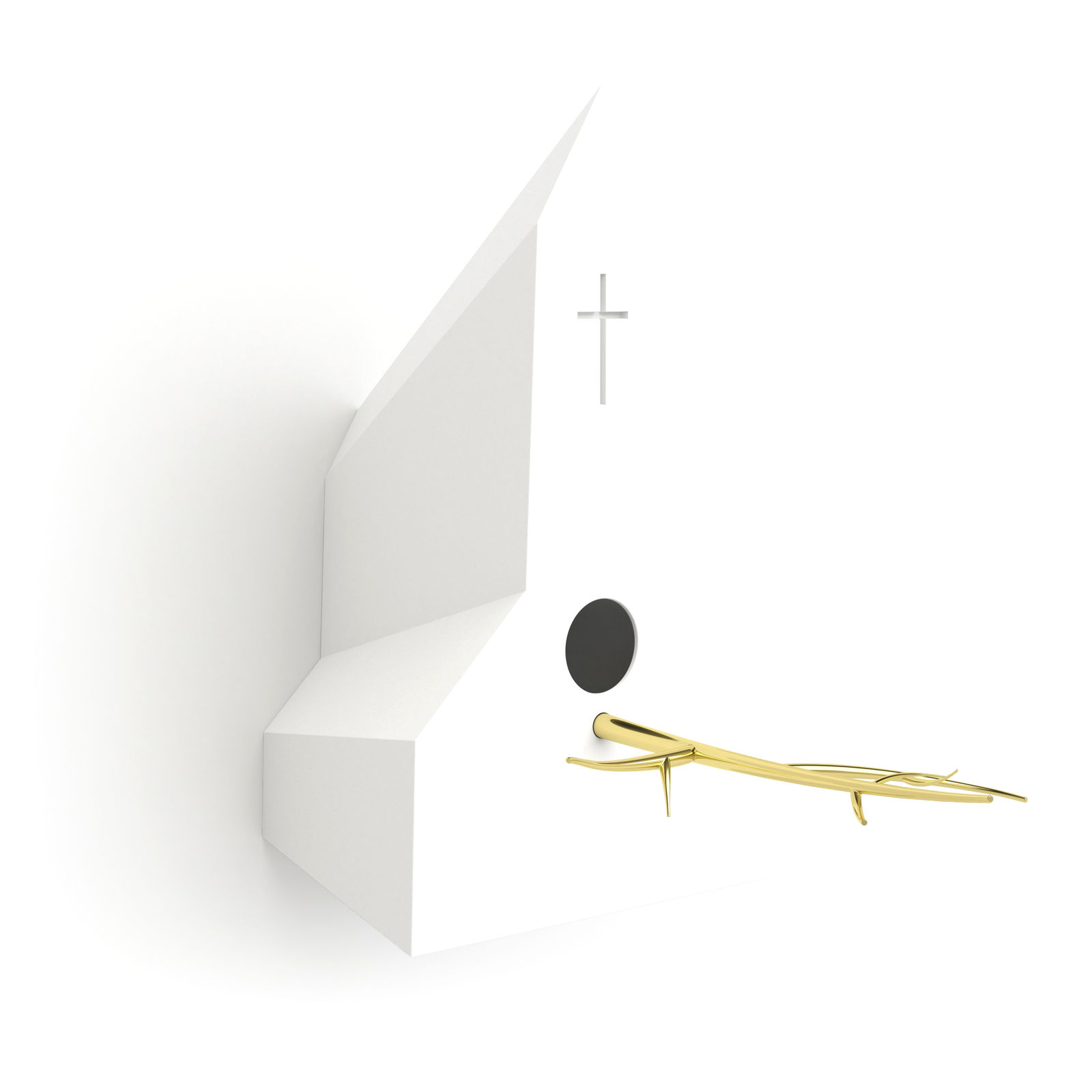 Holy Homes vogelhuisje Frederik Roijé kerk wit