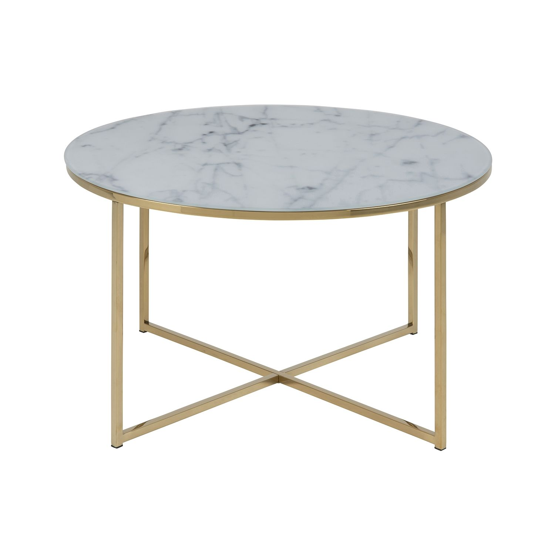 Yllene salontafel Liv rond goud - wit