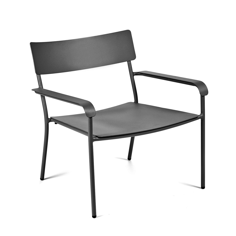 August loungestoel Serax zwart
