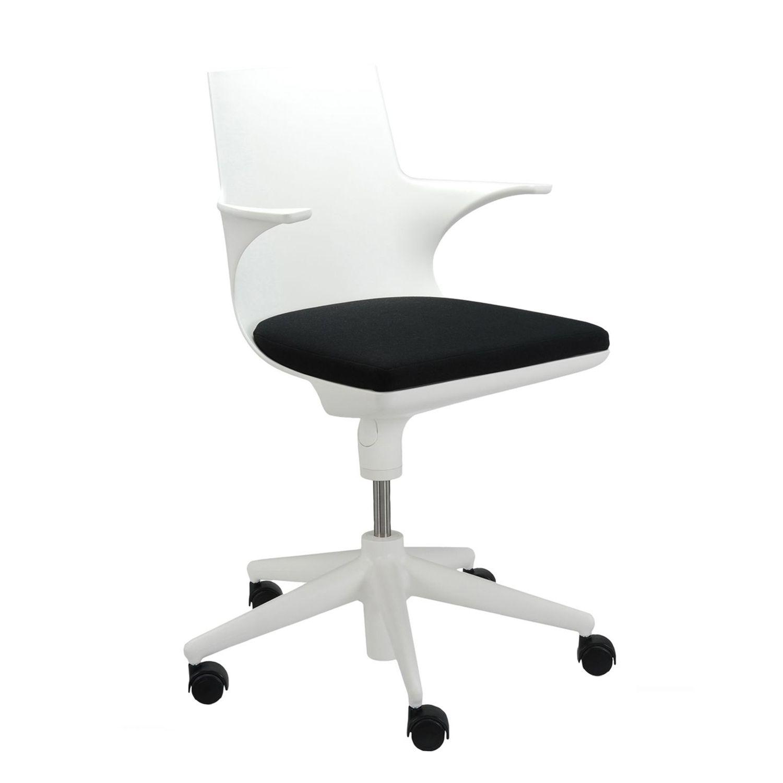 Spoon bureaustoel Kartell wit