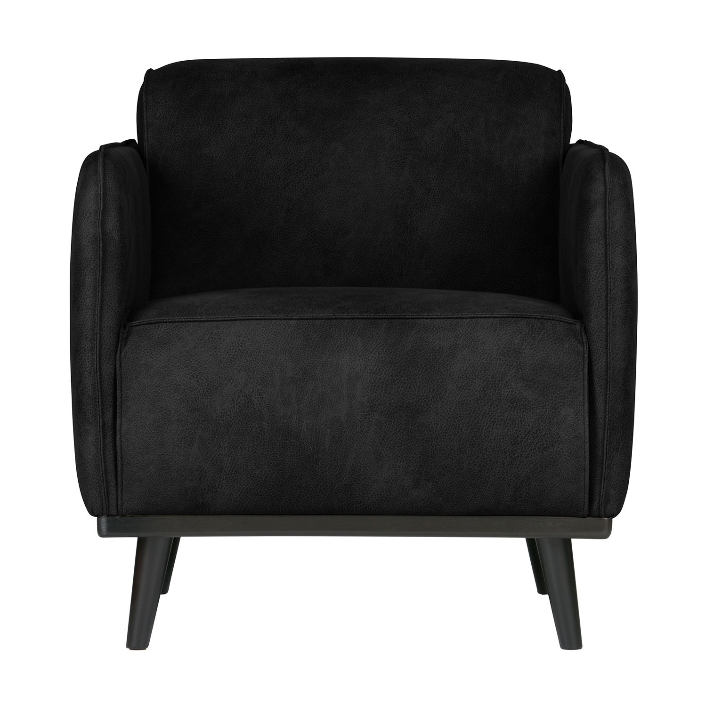 Statement fauteuil BePureHome suedine zwart