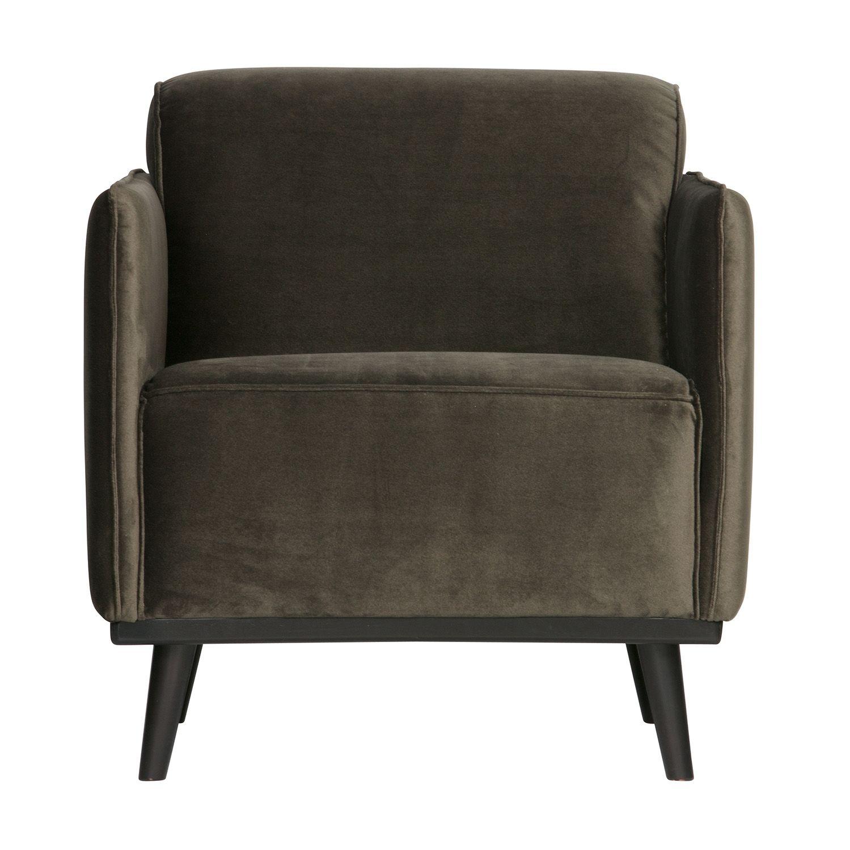 Statement fauteuil BePureHome warm groen