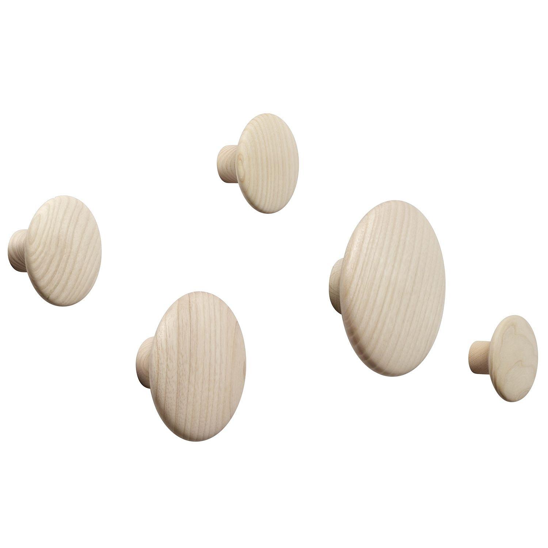 The Dots wandkapstok Muuto set - eiken