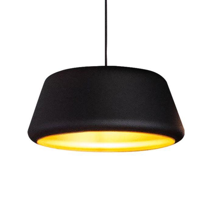 Tommy hanglamp Hala Ø45 zwart - goud