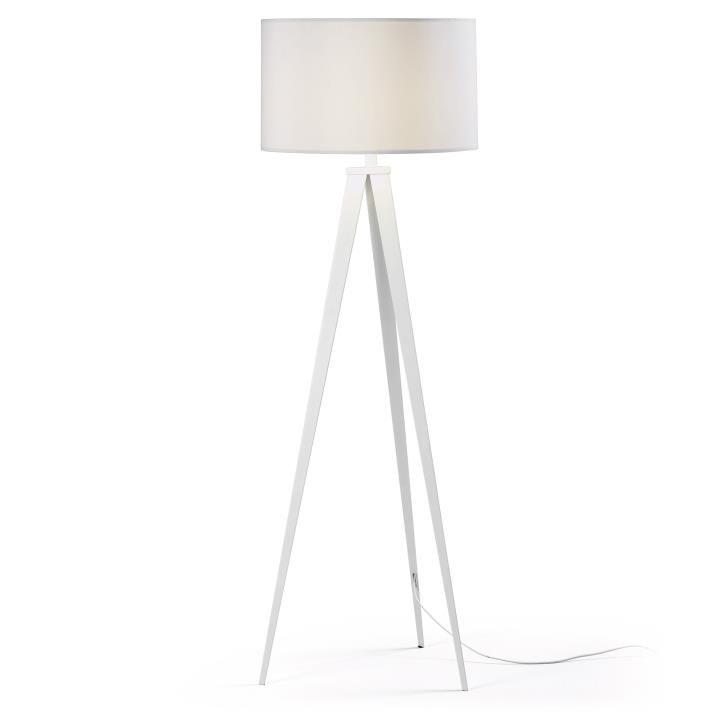OUTLET - Uzagi vloerlamp La Forma wit metalen poten