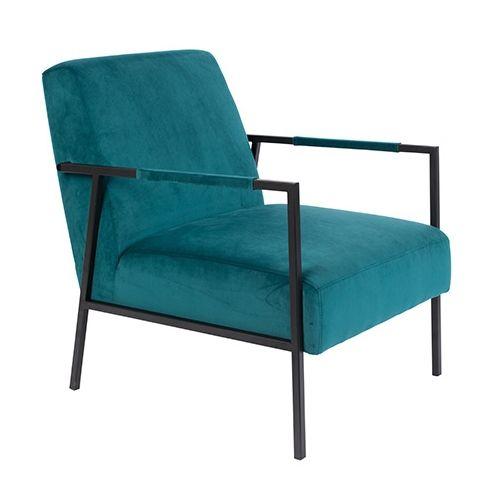 Wakasan fauteuil Luzo teal