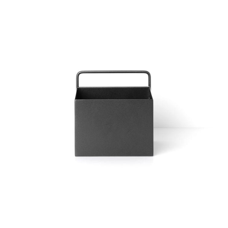 Wall Box plantenbak Ferm Living vierkant zwart