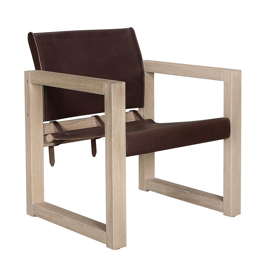 Saddle fauteuil Bodilson bruin