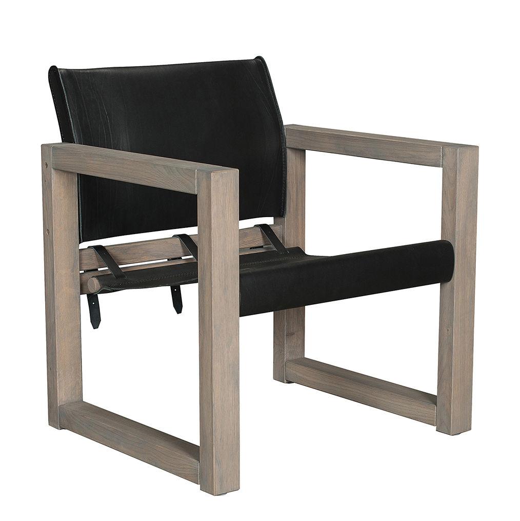 Saddle fauteuil Bodilson zwart