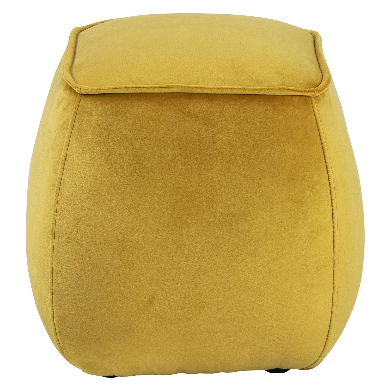 Farah poef Liv kubus - velvet geel