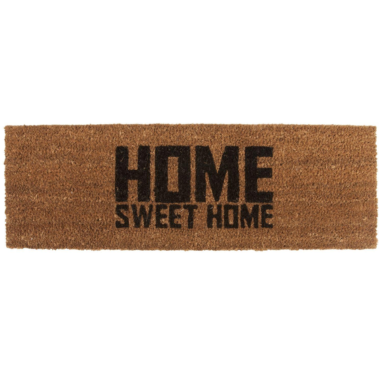 Home Sweet Home deurmat Present Time zwart