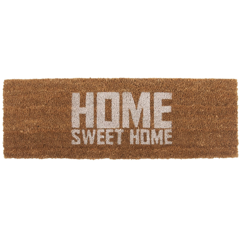 Home Sweet Home deurmat Present Time wit