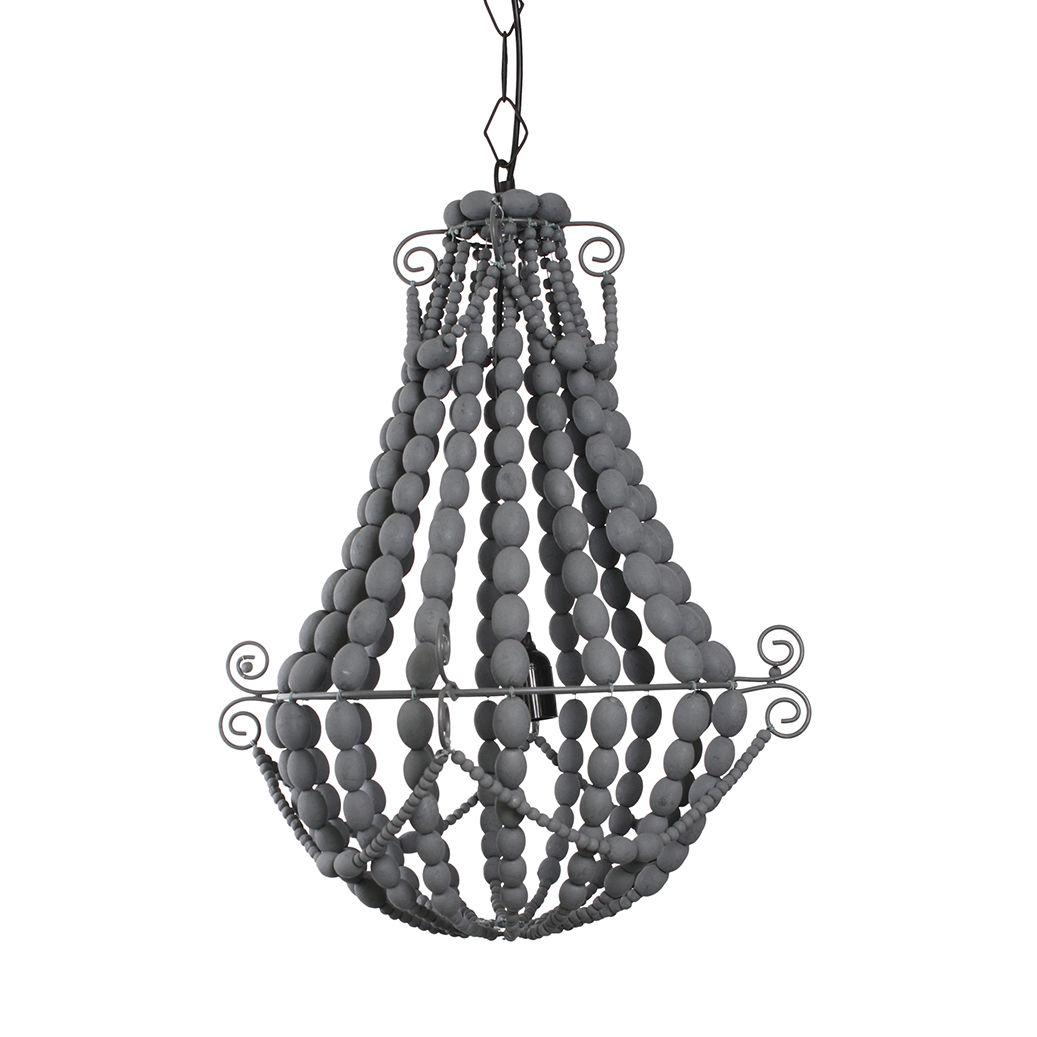 King hanglamp Bodilson grijs