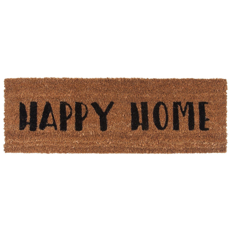 Happy Home deurmat Present Time zwart