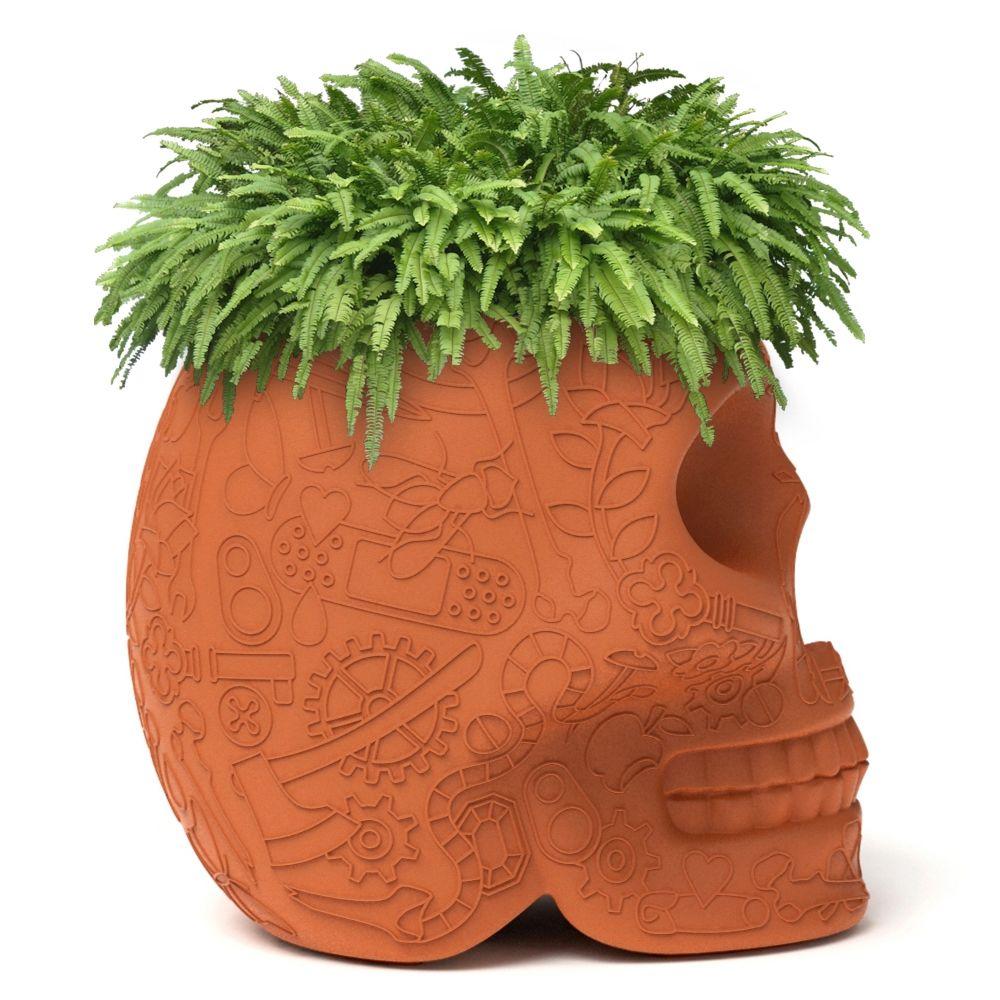 Mexico plantenbak - wijnkoeler Qeeboo terracotta