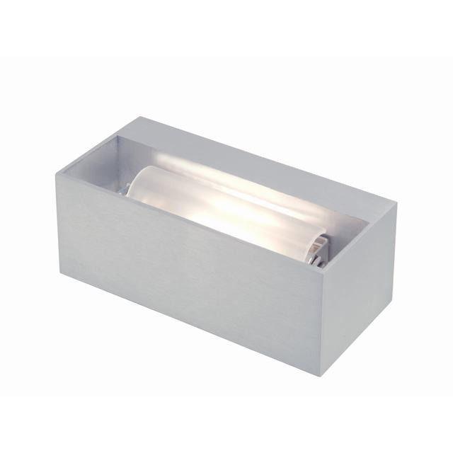 Tibo wandlamp Toss B geborsteld aluminium