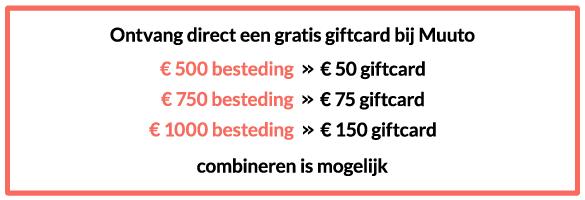Musthaves.nl | Ontvang direct een giftcard bij Muuto!