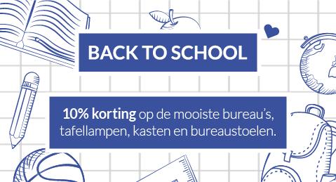 Musthaves | Back to School met de mooiste bureau's, tafellampen, kasten en bureaustoelen.