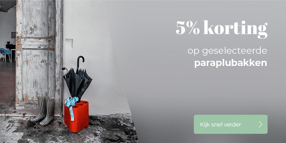 Musthaves.nl | 5% korting op geselecteerde paraplubakken