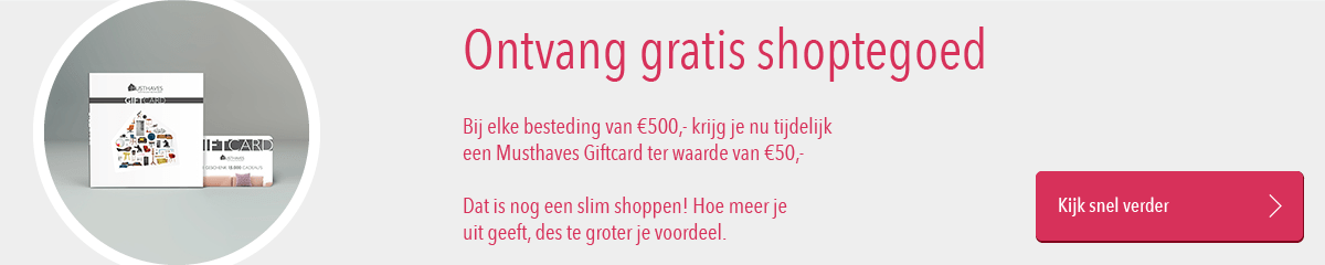 Musthaves.nl | Gratis Musthaves Giftcard