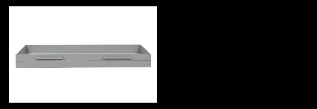 Universeel bedlade Woood betongrijs